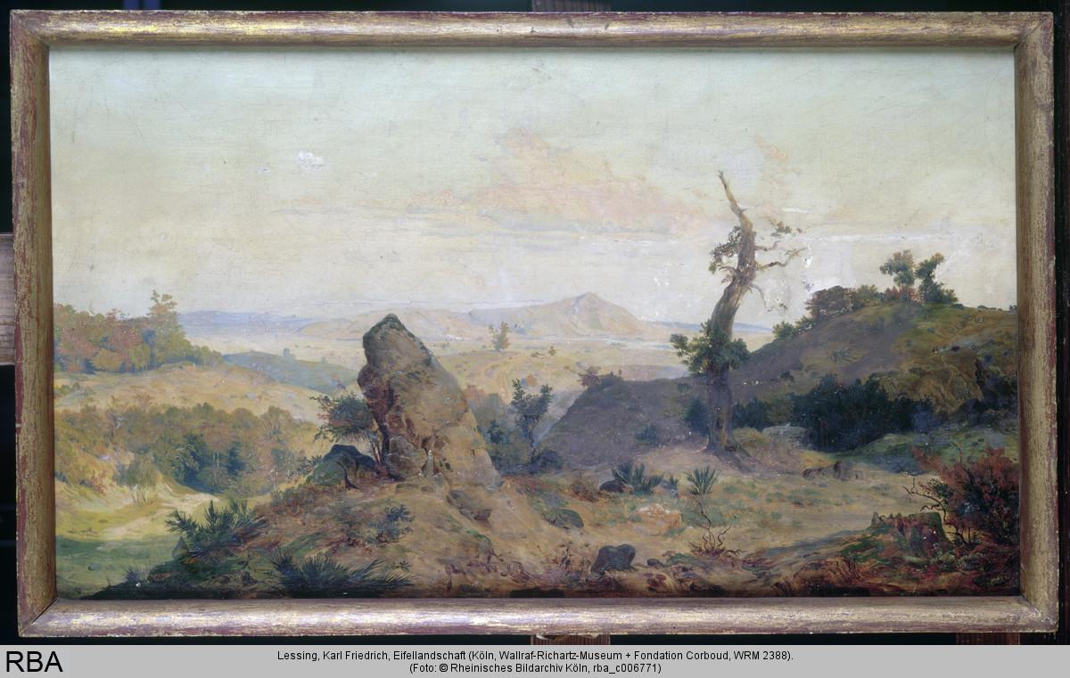 Der Morgen grau Leinwand Leinwandbild Friedrich